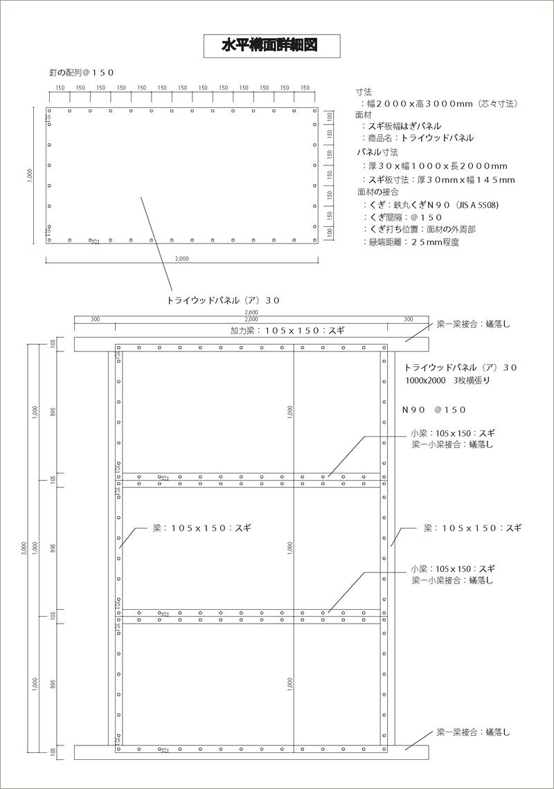 水平構面詳細図